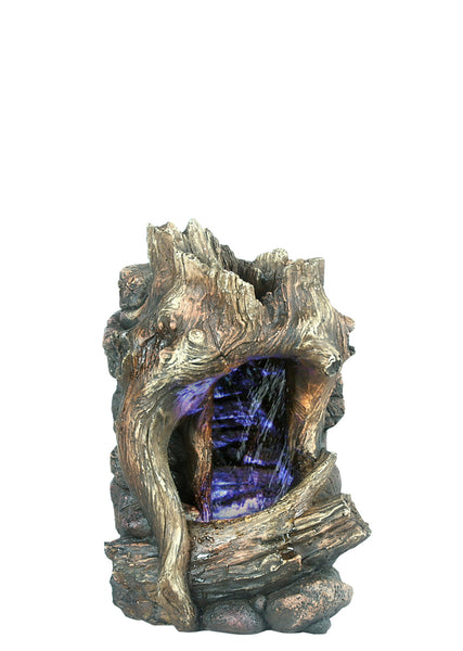 Tree Trunk Table Top Fountain with LED Light