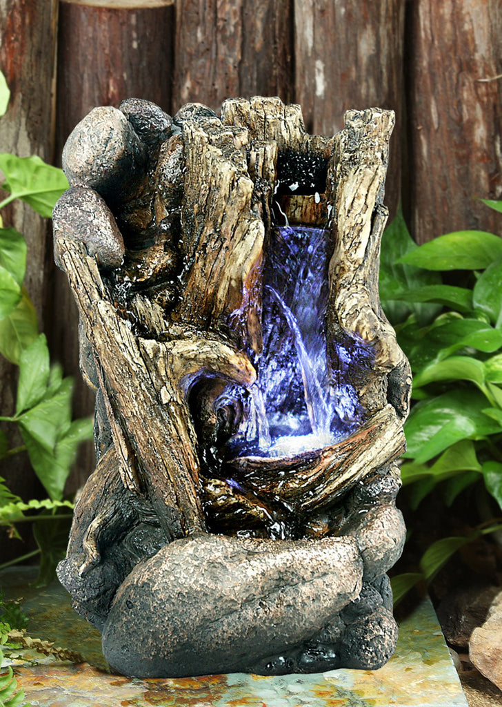 FOUNTAIN-TREE TRUNK W/LED