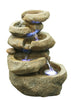 Cascading Rocks Table Top Fountain with LED Lights