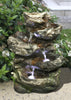 Log Waterfall Table Top Fountain with LED Lights