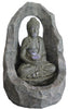 Fountain-Buddha Sitting In Stone with LED