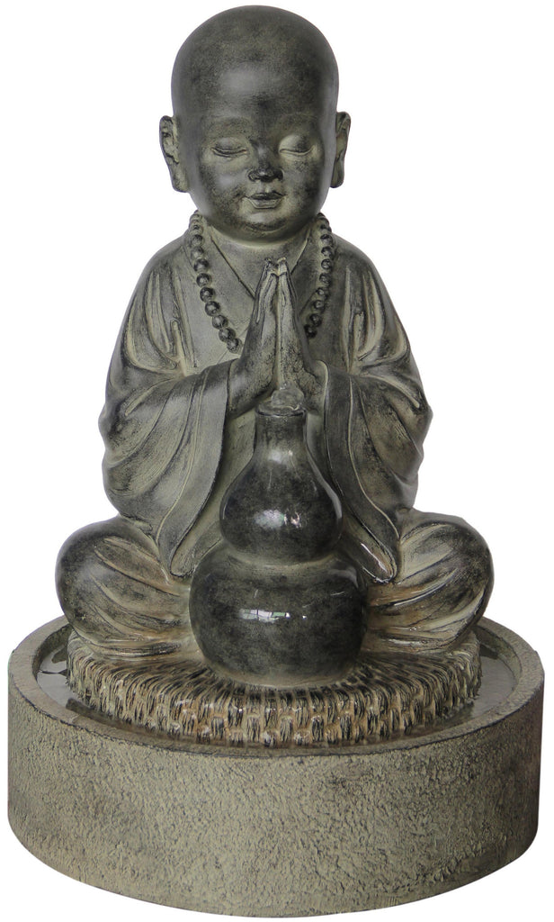 FOUNTAIN-BUDDHA CHILD SITTING PRAYING