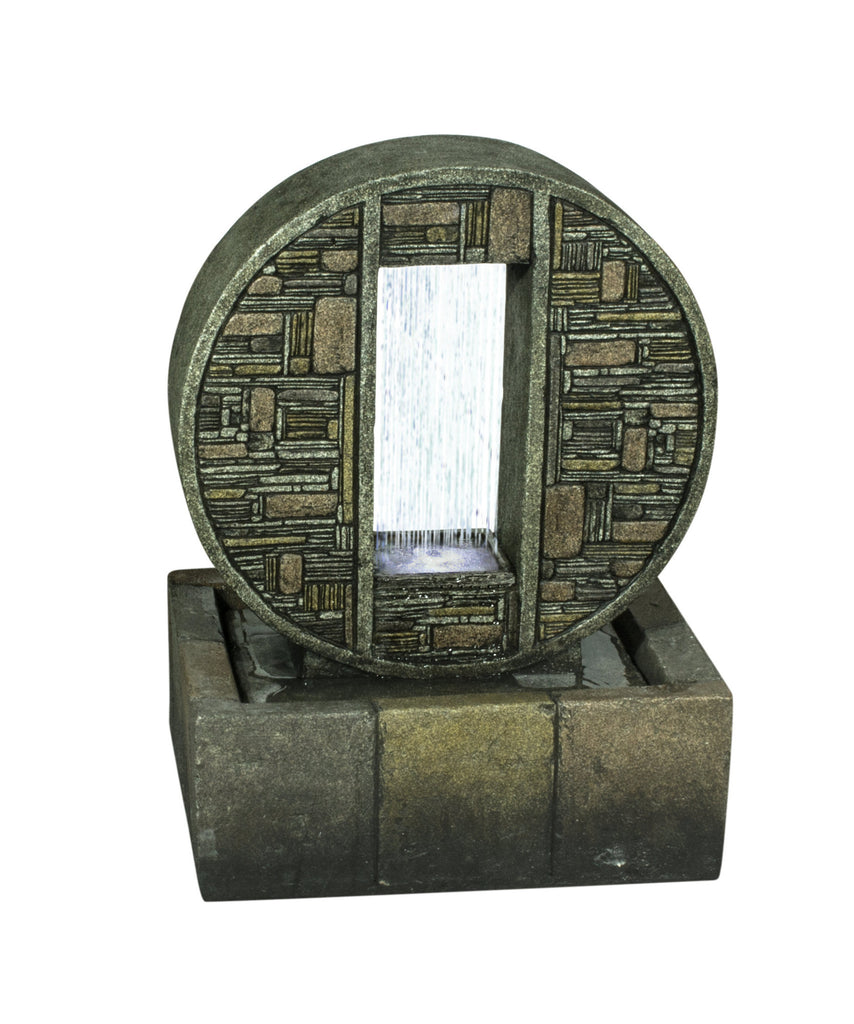 Fountain-Rainfall In Brick Design Medallion with LED