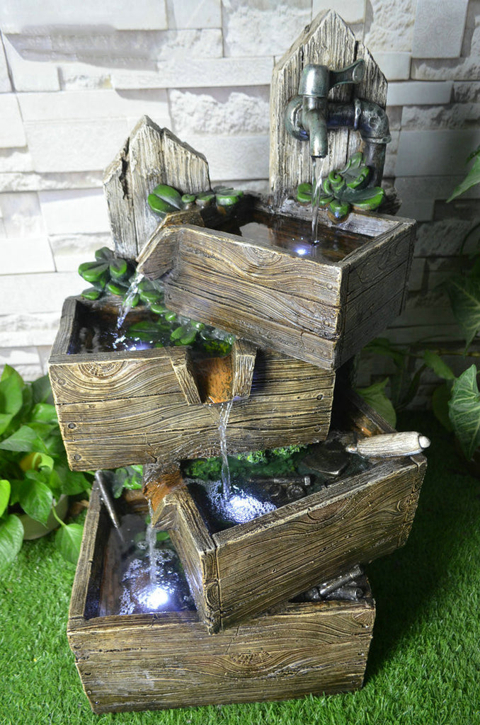 Fountain-Multi Level Pouring Crates with LED
