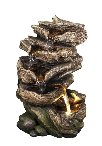 Fountain-Multi Level Logs with LED