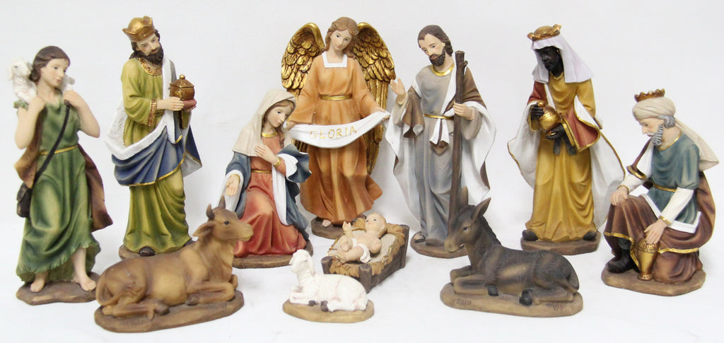"Nativity - 11 Piece Set 8"" H"