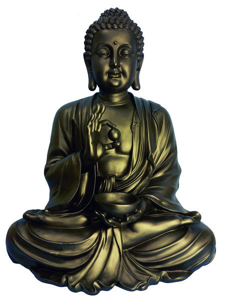 Buy Sitting Buddha Garden Statue Bronze For Sale Online
