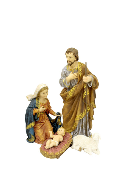 Mary, Joseph and Jesus Nativity Set with 4 Pieces 18""