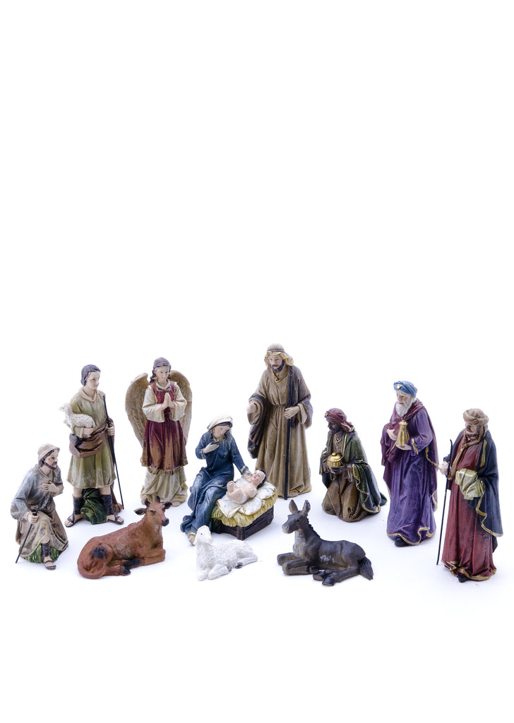 Small Nativity Set with 11 Pieces 5""