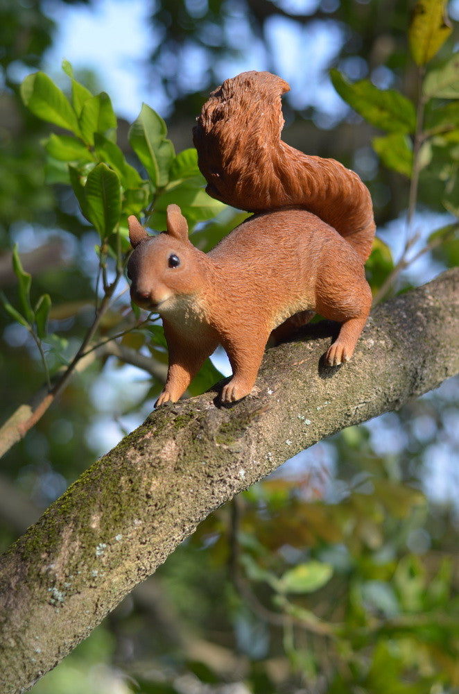 Red Squirrel Hopping Statue