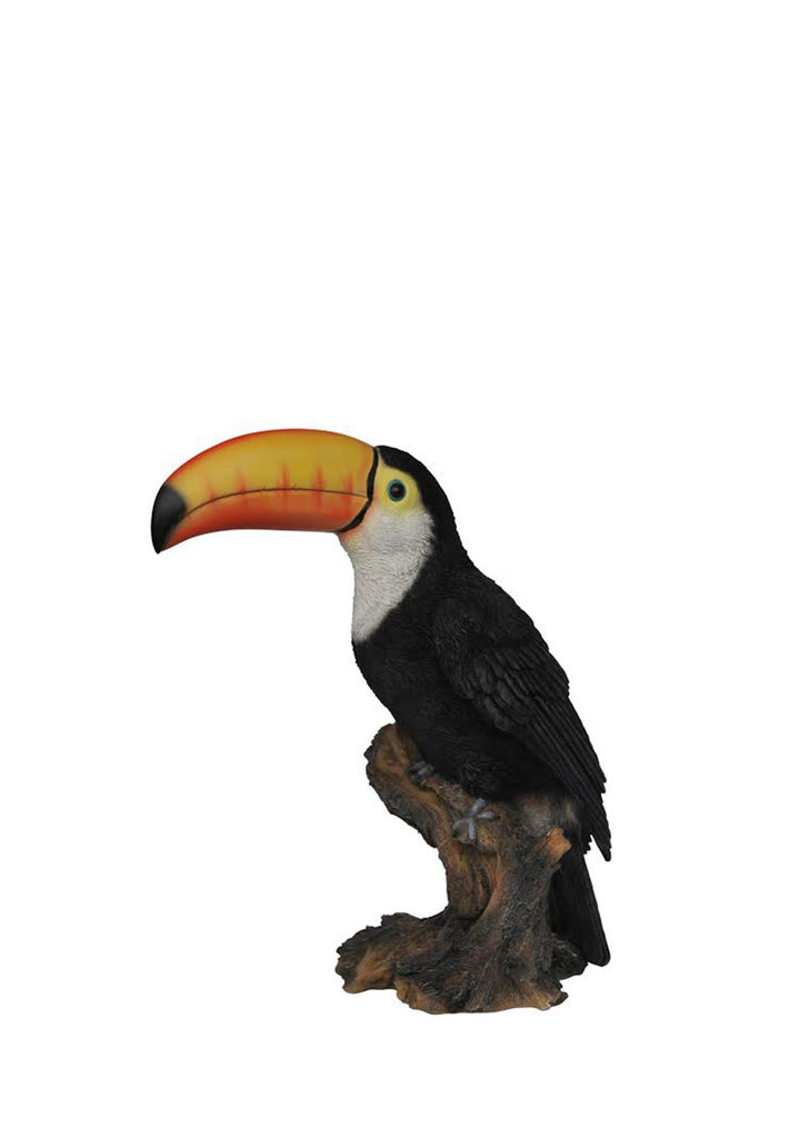 Toucan Bird Garden Statue on Stump