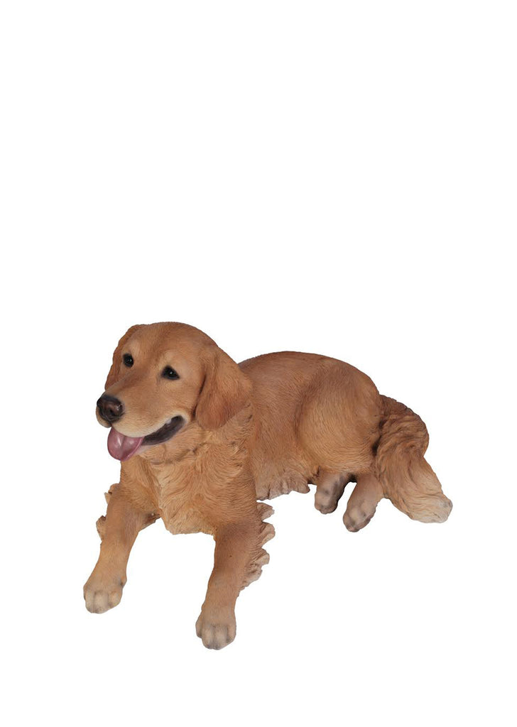 Golden Retriever Dog Statue Laying Down