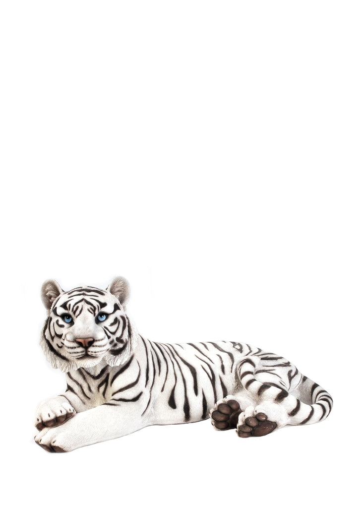 TIGER LAYING DOWN - WHITE