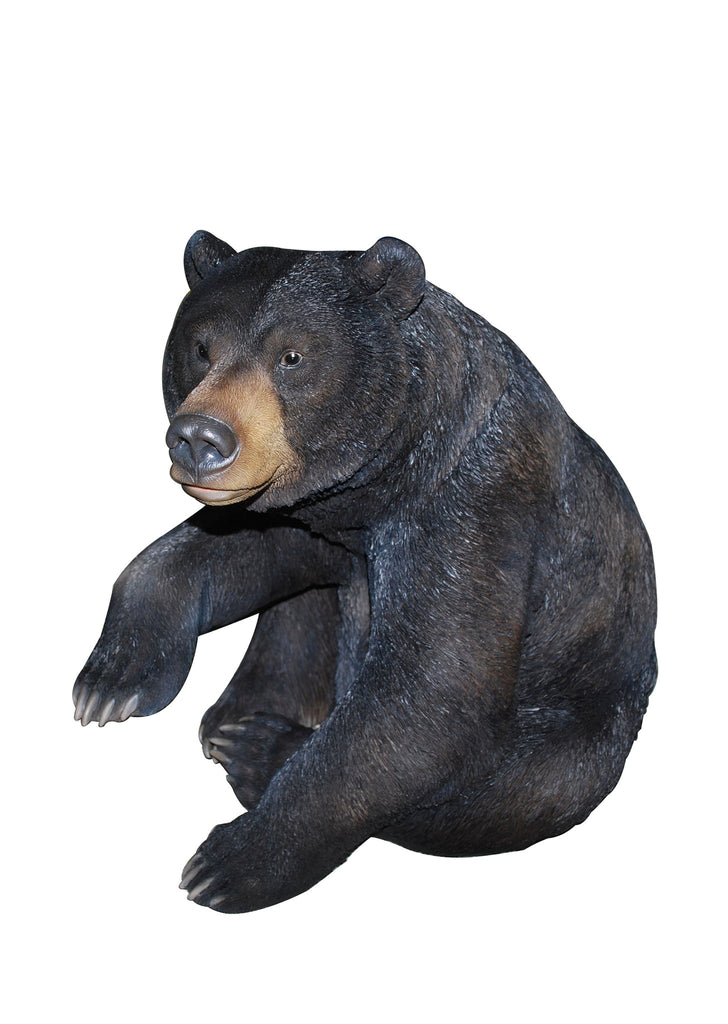 Black Bear Garden Statue Sitting