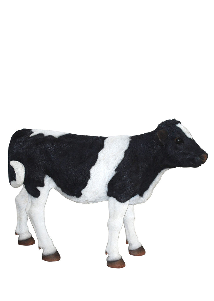 Black and White Cow Garden Statue