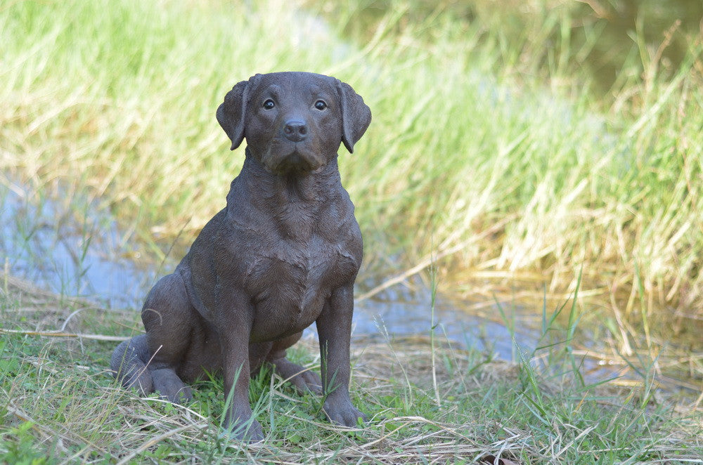 Sitting  Brown Labrador Retriever Dog Statue