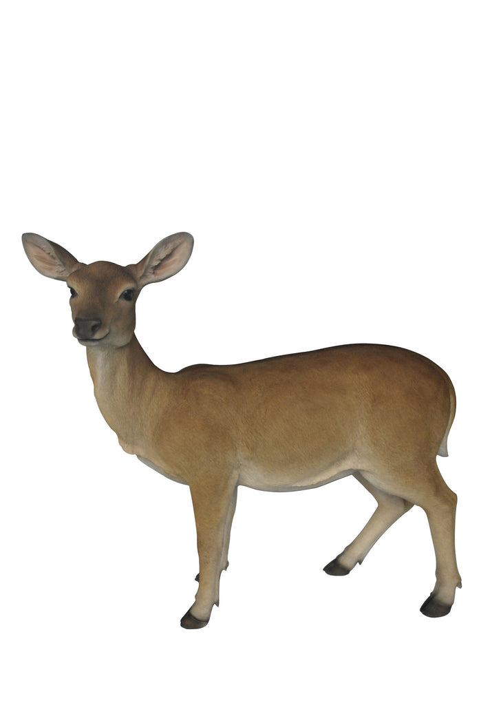 Doe Deer Garden Statue - Large