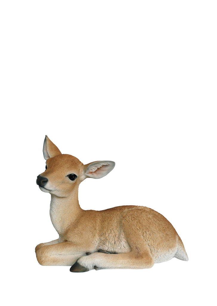 Baby Deer Garden Statue Laying Down