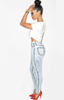 High Waist Acidwash Jeans - LAQUOR - 4