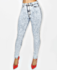 High Waist Acidwash Jeans - LAQUOR - 2