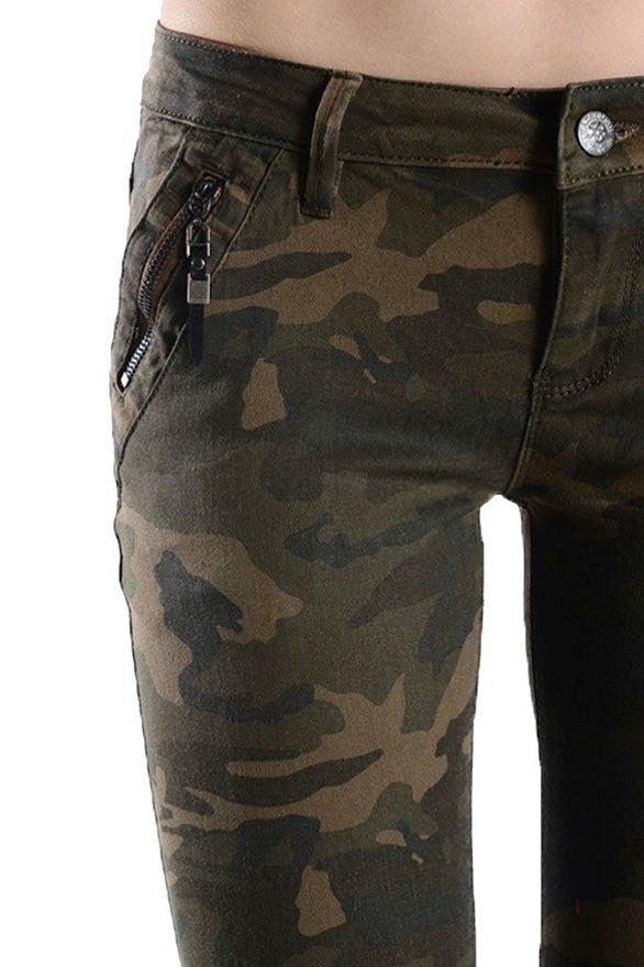 Army Skinny Jeans - LAQUOR - 1