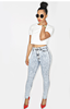 High Waist Acidwash Jeans - LAQUOR - 1
