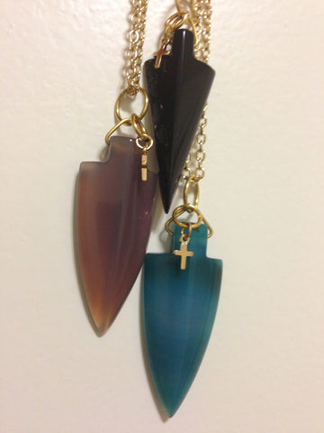 Agate Arrow Necklace - LAQUOR