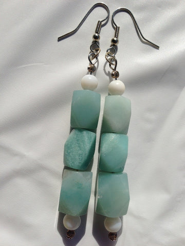 Amazonite Earrings - LAQUOR