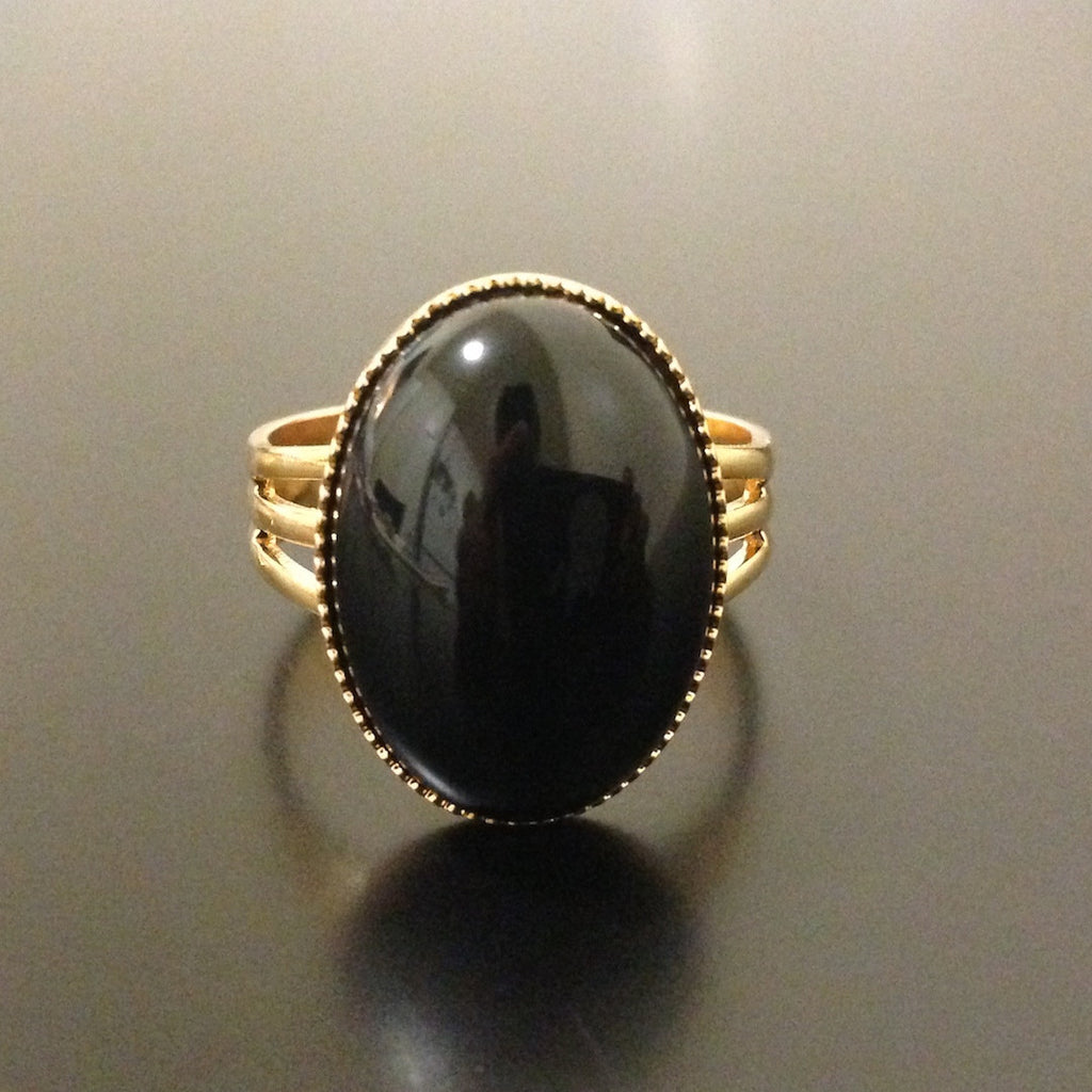Black Onyx Ring - LAQUOR