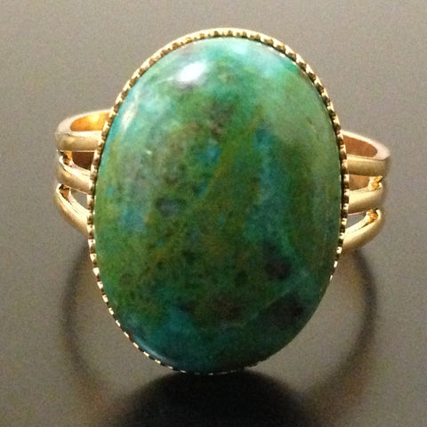 Chrysocolla Ring - LAQUOR