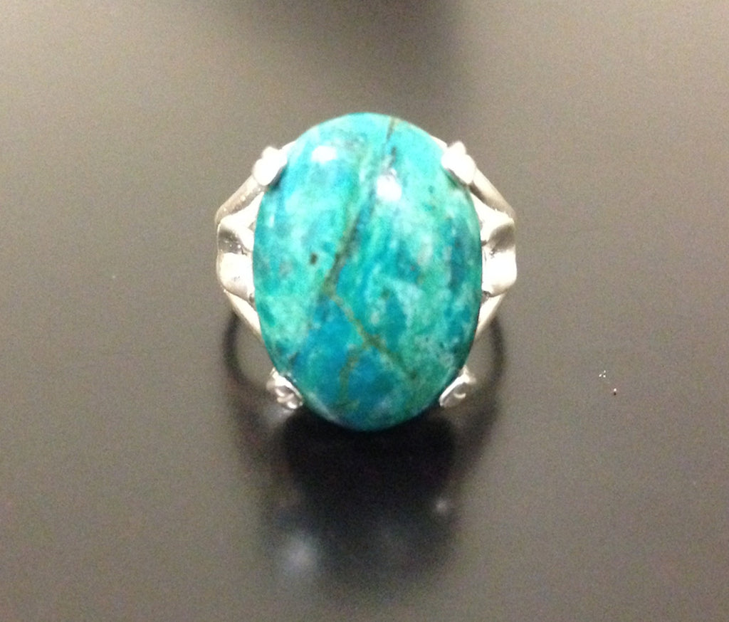 Chrysocolla Ring - Sterling Silver - LAQUOR
