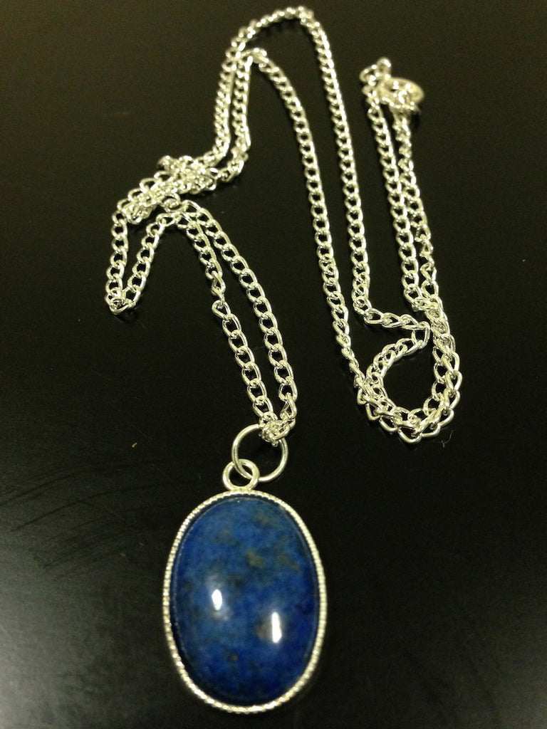 Denim Lapis Necklace - LAQUOR