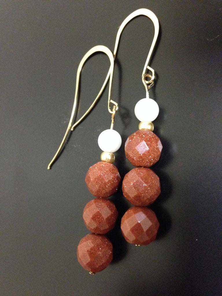 Goldstone Earrings - LAQUOR