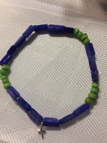 Green and Blue Catseye Bracelet