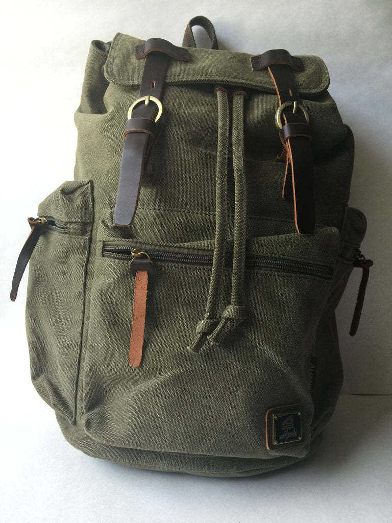 Canvas Backpack - LAQUOR - 1