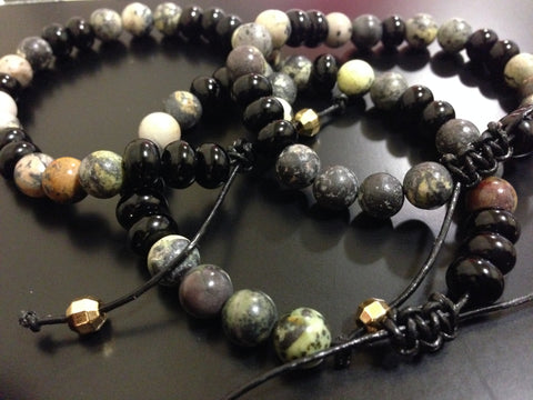 Landscape and Black Agate Bracelet