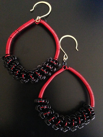 Red Wire Hoops