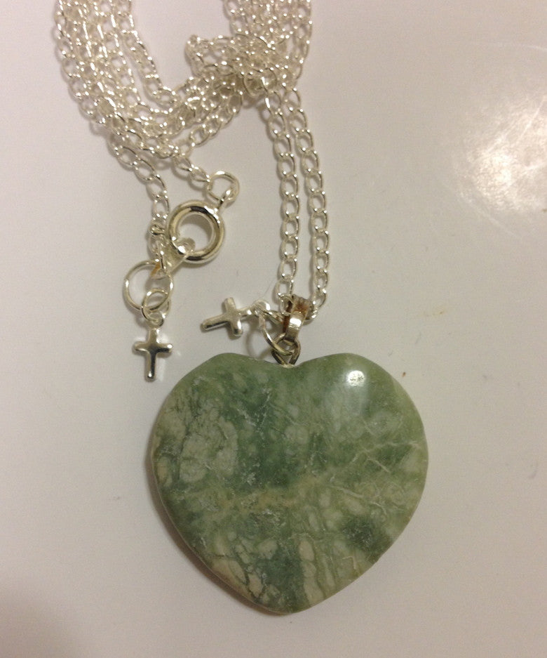 Tree Agate Heart Necklace - LAQUOR