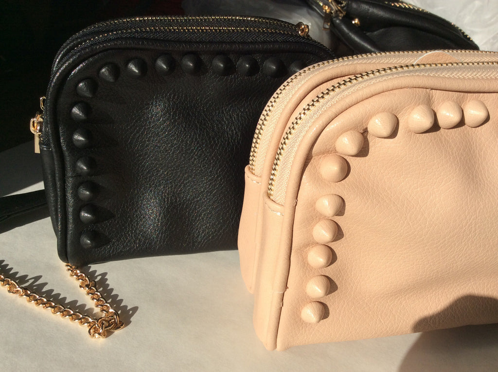 Spiked Mini Satchel - LAQUOR - 1