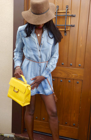 Denim Tunic Dress - LAQUOR - 1