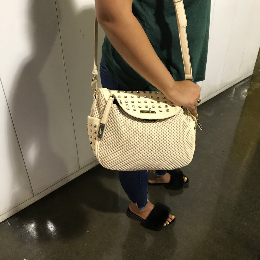 Cream Satchel