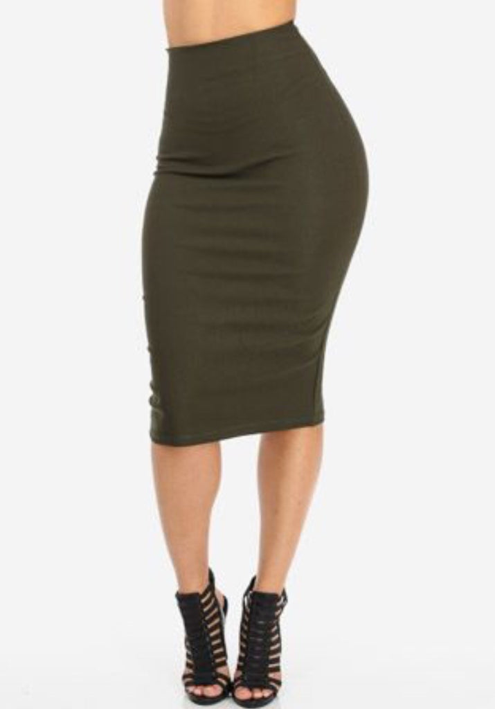 High Waisted Skirt - LAQUOR - 1