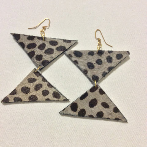 Cheetah Leather Prints Earrings - LAQUOR