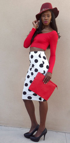Polka Dot Skirt - LAQUOR - 1