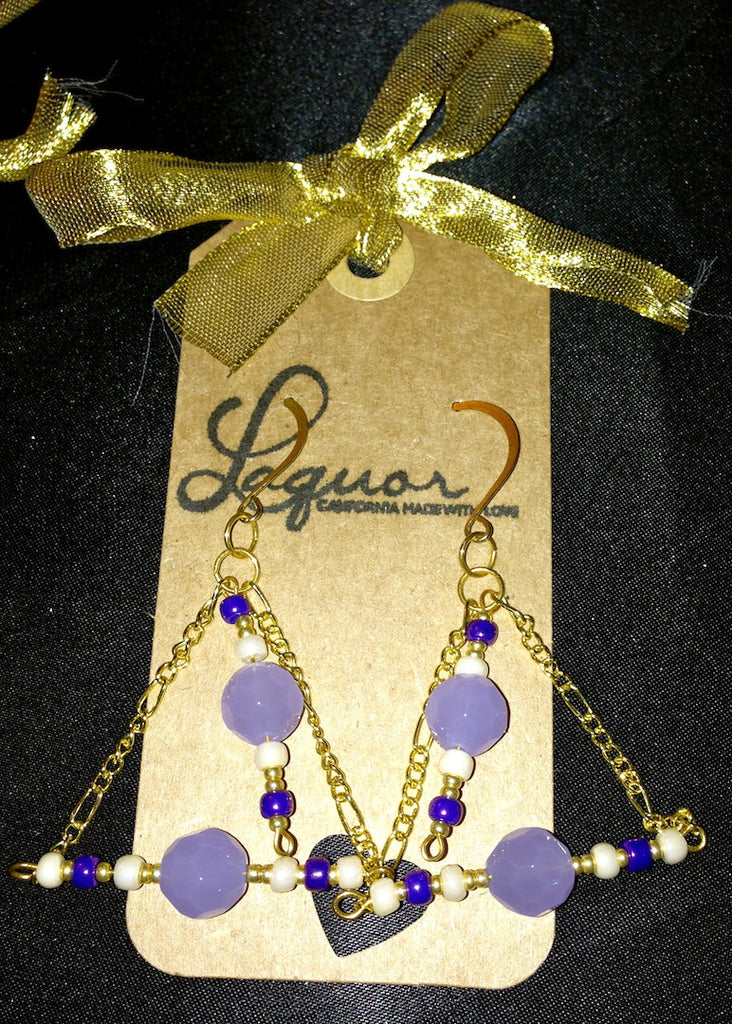 Purple Lily Earrings - LAQUOR