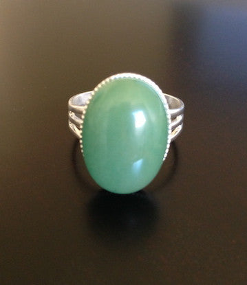 Green Aventurine Ring - LAQUOR