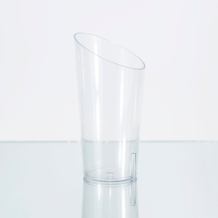 Mini Vaso Trunco Transparente (4.5x9cm) (20 pzas)
