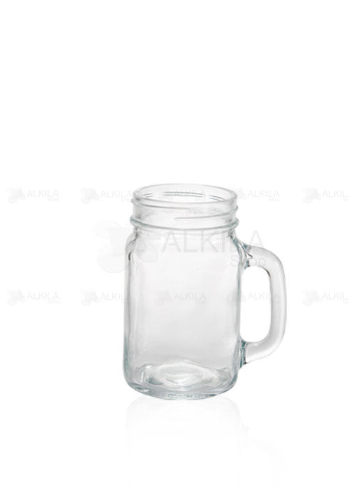 Mason Jar County 16oz Liso con Asa (473 ml) - Alkila Shop - 1