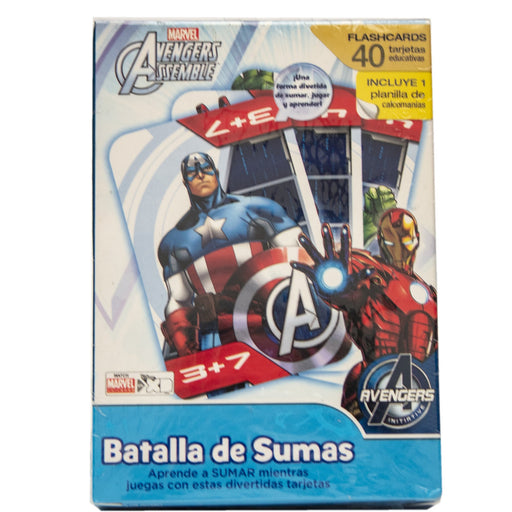 Flash Cards Guerra de Sumas Avengers Assemble Novelty