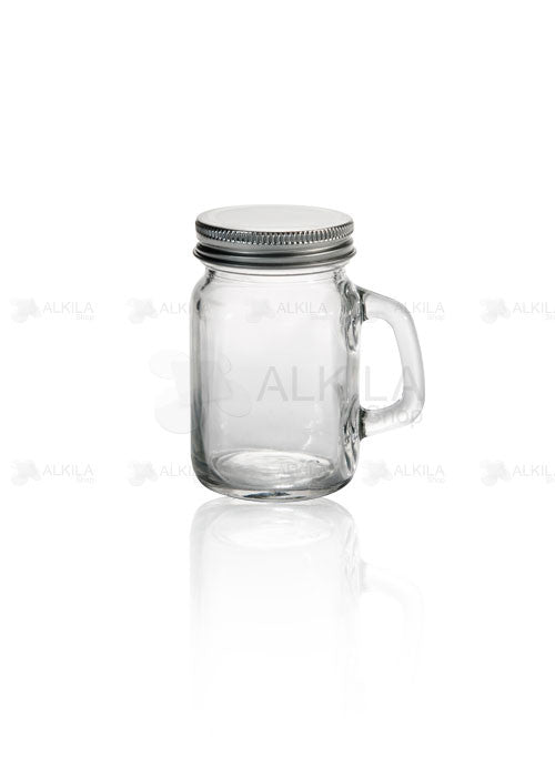 Mason Jars Mini c/Asa Liso 4oz Paquete con 12 Frascos (118 ml) - Alkila Shop - 3